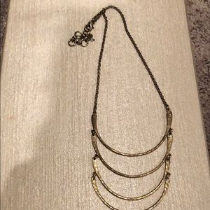 Lucky brand gold layered crescent necklace
